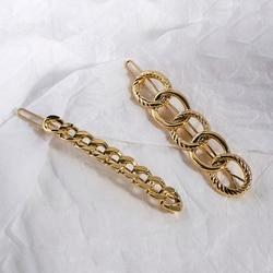 AENSOA Fashion Women Metal Hair Clip Accessories Chain Hair Clip Pin Headwear Barrettes Hairband Chain Shape