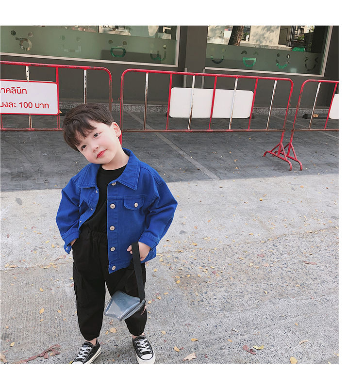 H82584bff4aa34f2bb4e05c0845cfd574Q - Brand New Baby Girls Boys Candy Color Denim Jacket Kids Cotton Casual Jeans Jackets Children Clothes 1-10age