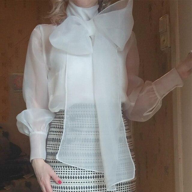Elegant Women's Lace Blouse 2