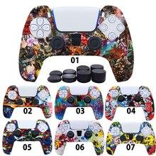 جراب سيليكون ناعم لجهاز SONY Playstation 5 ، واقي لوحدة تحكم SONY Playstation 5 ، 8 أغطية قبضة الإبهام