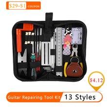 Набор инструментов для ремонта гитары, электрическая акустическая гитара, укулеле, инструмент для чистки, набор аксессуаров