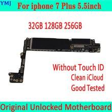 עבור iphone 7 בתוספת האם 32GB /128GB /256GB, מקורי סמארטפון עבור iphone 7 P היגיון לוח עם/ללא מגע מזהה משלוח iCloud