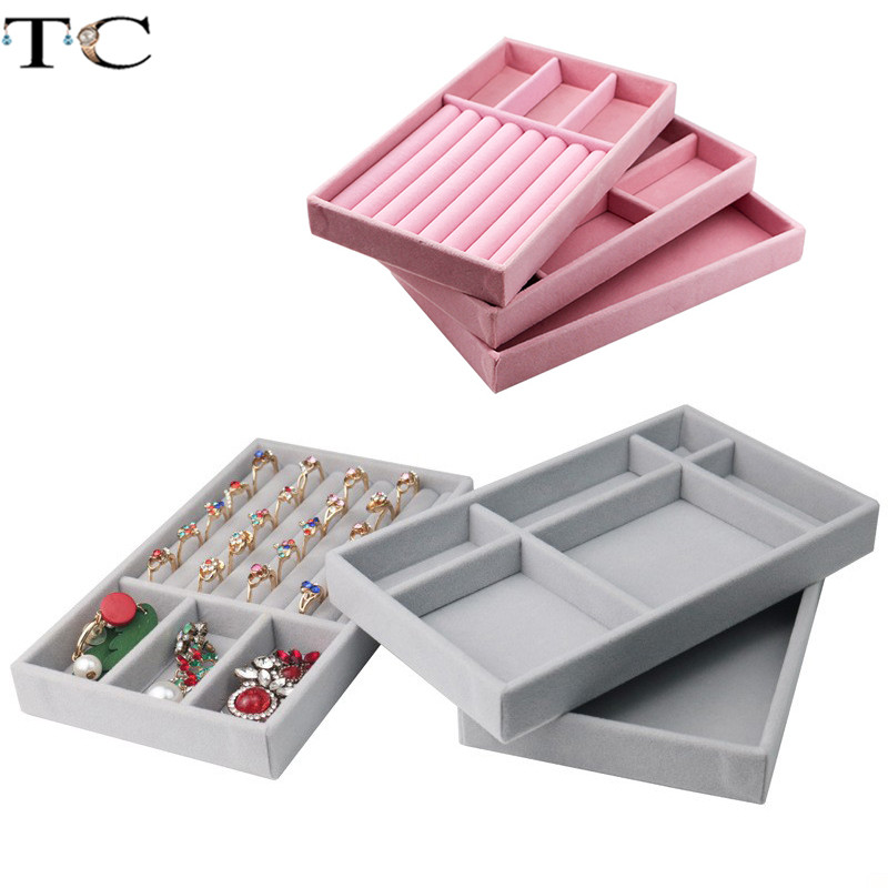 Necklace Display Tray Jewelry Display Tray Ring Holder Showing Case Jewellry Storage Container Earring Bracelet Box