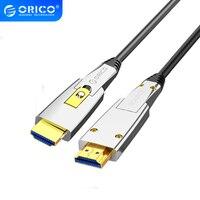 ORICO HDMI a HDMI/Cable Micro HDMI 4K 60HZ 18Gbps 2 en 1 interruptor libremente HDMI2.0 Cable para TV proyector para PC ordenador portátil