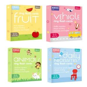 Montessori English Game dziecko dzieci poznanie dziecko oświecenie wczesne zabawki edukacyjne zwierzęta owoce pojazd codzienne duże karty rozmiarów