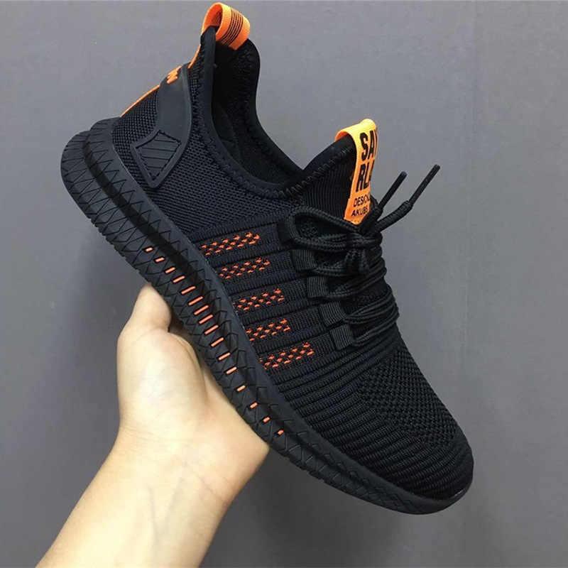 2019 nuevas Zapatillas de deporte para Hombre, zapatos casuales de malla, zapatos de Lac-up, Zapatillas de deporte transpirables y ligeras para Hombre