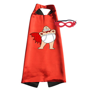 Boys Halloween Costumes Captain Underpants Costume Satin Cape Felt Masks 25inch for Halloween Holiday Birthday Party(China)