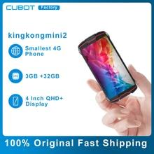 Cubot kingkongミニ2頑丈なスマートフォンアンドロイド10.0パイ4インチqhdディスプレイ防水耐久性のある防水携帯電話3000mah