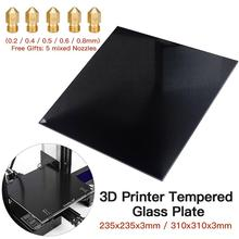цена на 3D Tempered Glass Platform Heated Bed Build Surface Fit For Ender-3/Ender-3 Pro/Ender-3X/Ender-5/CR-10S/CR-20/CR-20 Pro Printer