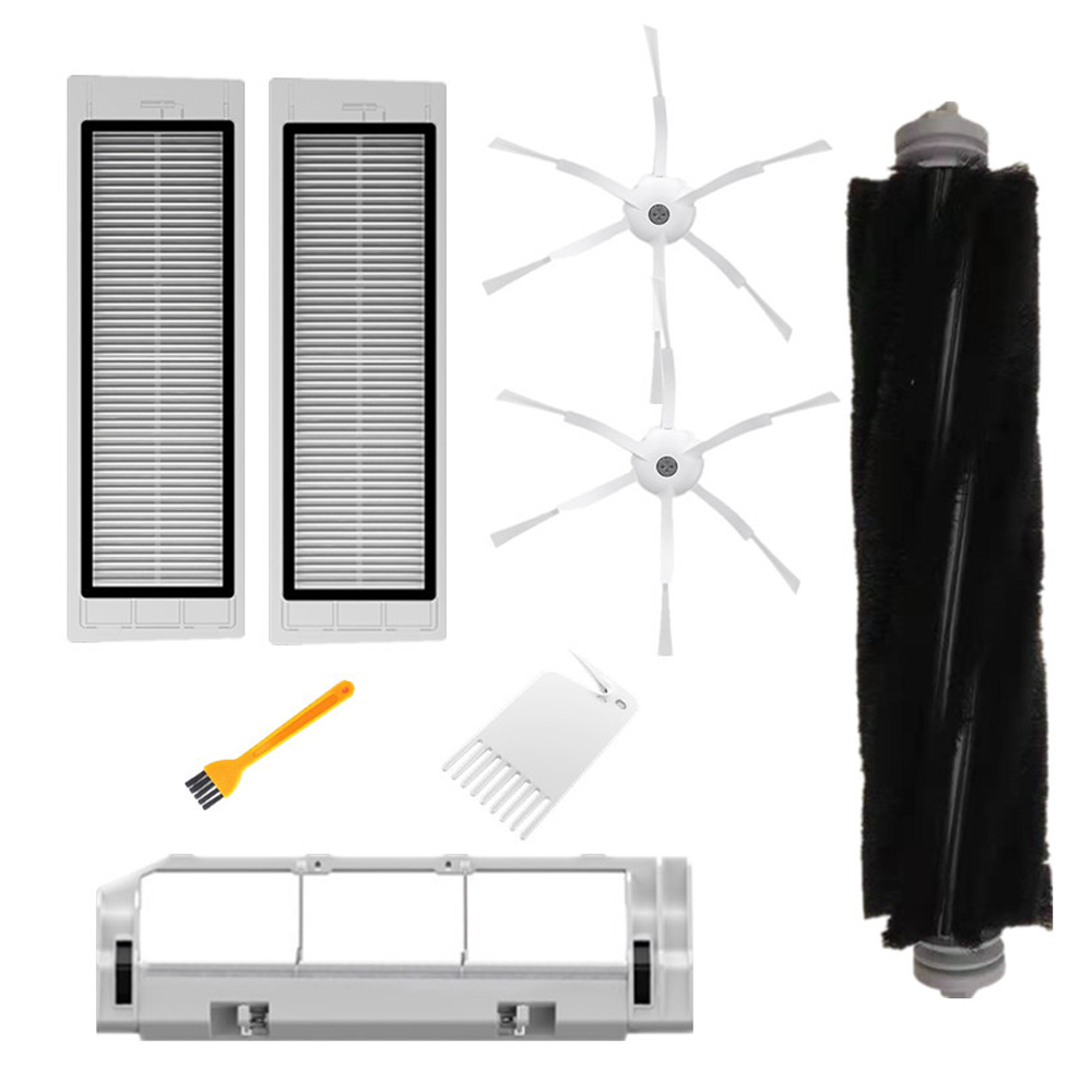 8PCS/12PCS Main Brush Side Brushes HEPA Filter Cleaning Tool Replacements For Roborock Vacuum Cleaner Filter Parts Accessories