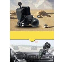 Piastra diamantata compatibile con gancio per microfono a mano per interfono per auto con sfera in gomma da 1 pollice per interfono per auto t