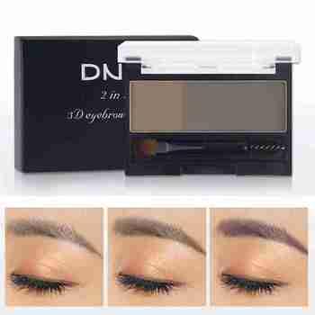 Double Color Eyebrow Powder Professional Makeup Palette Eyebrow Stamp Eye Brow Enhancers Eye Brows Shadow Make Up Brow Powder lancome brow densify powder to cream