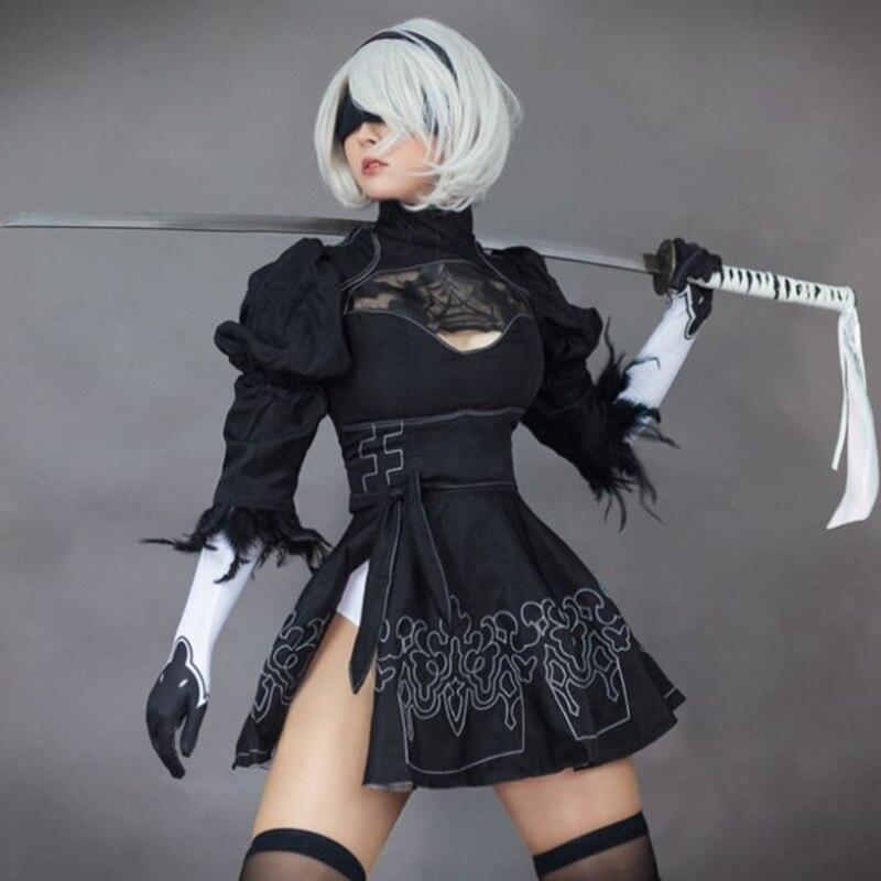 New Game NieR:Automata 2b Uniforms White Underwear Cosplay Costume