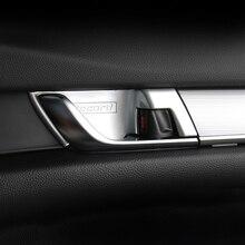 Abs Chrome Car Styling Porta Interna Maniglia Ciotola di Copertura Trim Adesivi Interni Moulding per Honda Accord 10th 2018 Accessori