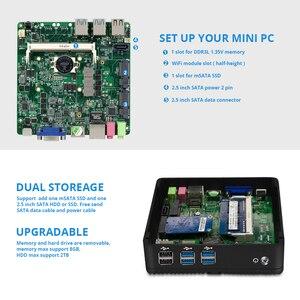 Image 5 - YCSD Mini PC Core i5 4210Y Pentium 4405U 2955U i7 Computer Fanless PC Windows 10 Desktop HDMI USB3.0 Htpc MINIPC Thin Client NUC