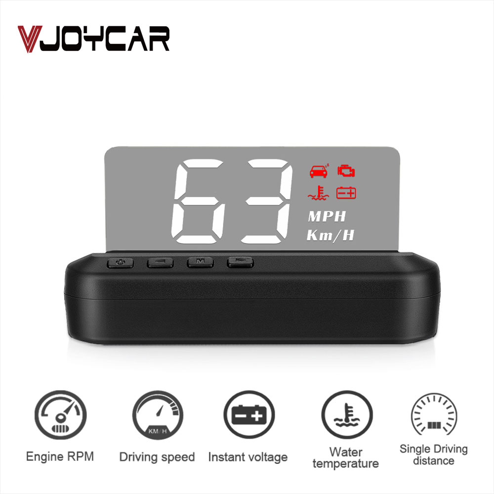 2020 New OBD2 HUD Mirror Car Head Up Display C100 HUD Digital Speed Projector Security Alarm Water Temp RPM KMH MPH Speedometer