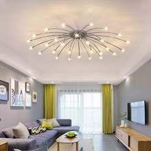 Хромированные СВЕТОДИОДНЫЕ лампы moder; Дизайн люстры для Гостиная