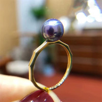 AU750 Genuine 18K Yellow Gold Ring Findings Set Base Component AU750 Jewelry Adjustable Ring Women Nice Gift