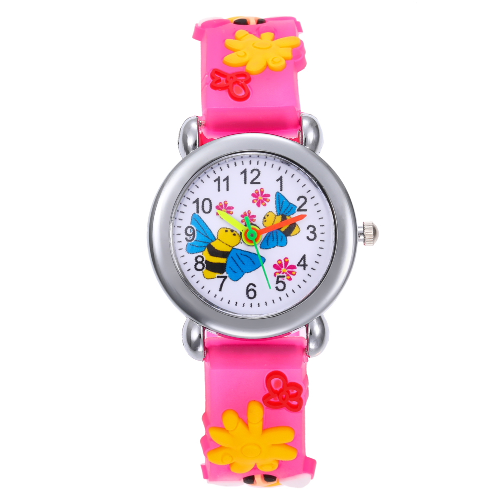Lovely Bee Cartoon Children Watches Rubber Electronic Kids Watch For Boy Student Girls Clock Reloj Infantil Saati Christmas Gift