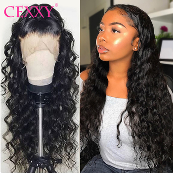 CEXXY Brazilian Water Wave Wig Lace Front Human Hair Wigs With Baby Hair Curly Lace Front Wig  For Women 150% Density Lace Wig