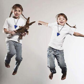 Tiburón mordedor Collar para morder para los niños de silicona dentición juguetes para el autismo 3 Pack P31B