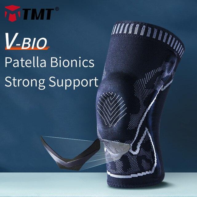 Rodillera TMT 3D para deportes, rodilleras para artritis, Protector de soporte para voleibol, articulaciones, Protector de rótula de baloncesto para bicicleta, 1 unidad
