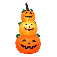 Halloween Pumpkin Light Lamp Door Room Decoration LED Lantern Party Home Props Decoration Powerful Blower cloth Fairy Lights
