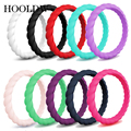 Плетеные силиконовые кольца 3 мм, гипоаллергенные антибактериальные гибкие поворотные резиновые кольца для женщин, обручальные кольца, рез...
