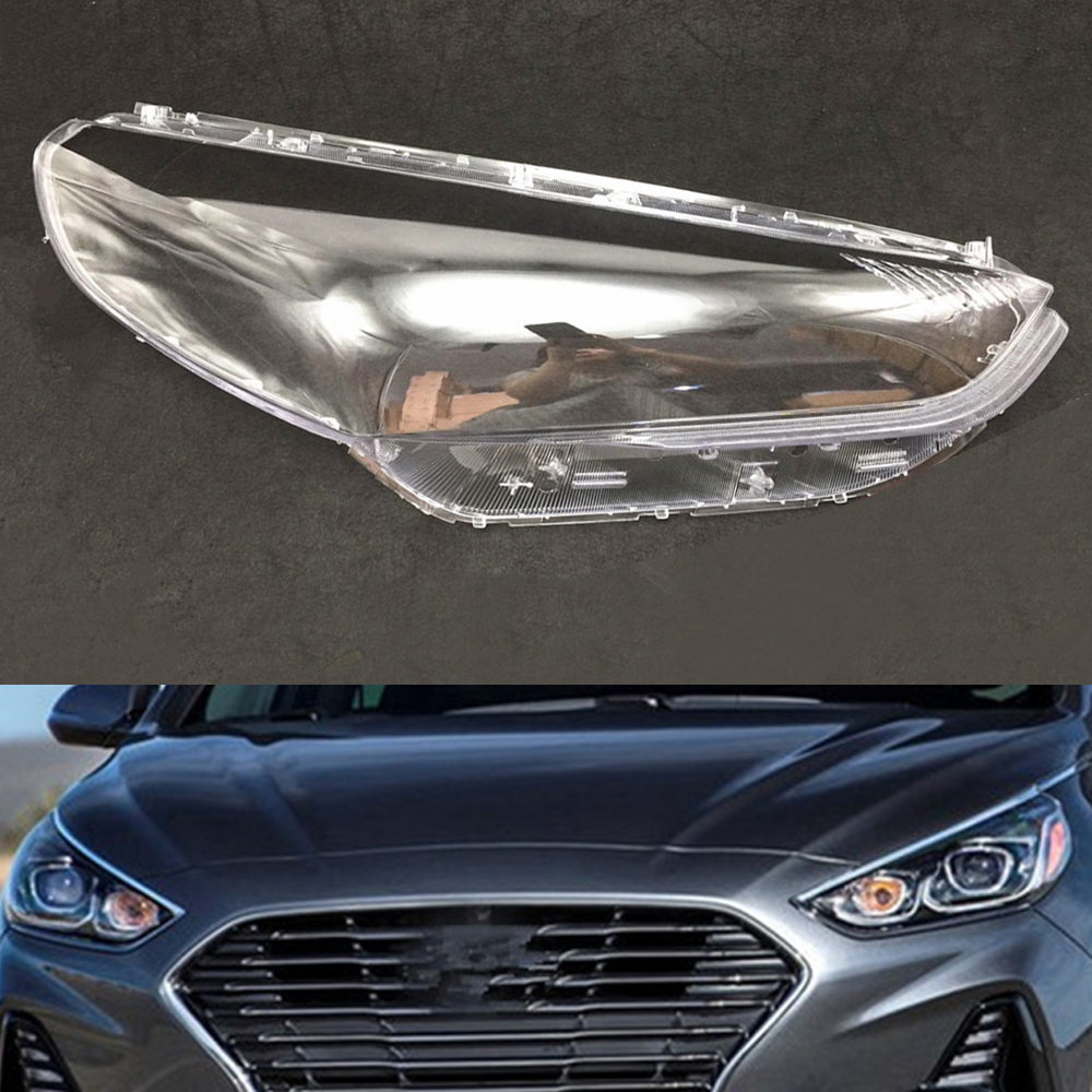 For Hyundai Sonata 2017 2018 2019 Headlamp Lens Car Replacement Clear Auto Shell Car Headlight Covers