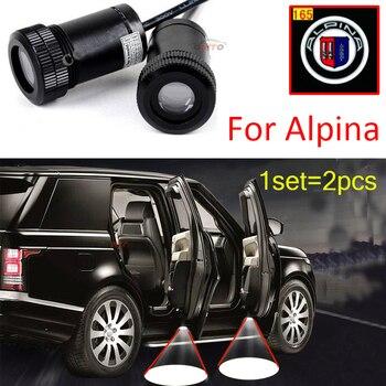 Car Led Car Door Projector Welcome Lights Car Led Ghost Shadow Light 12V 10W Alpina logo 165 for bmw E60 E90 F10 F30 F15 E91