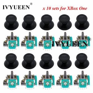 IVYUEEN 10 Sets 3 pin 3D Analog Joystick Stick Sensor Module Potentiometers & Thumbstick Cap for Microsoft XBox One Controller(China)