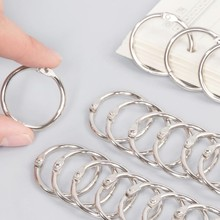 3PCS 76MM stainless steel binding iron ring card book opening key sundries