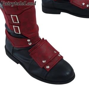 Image 5 - Deadpool 2 Wade Wilson Cosplay kıyafet cadılar bayramı kostümleri DP2 bir kez bir Deadpool kırmızı Suit tulum maskesi ayakkabı kemer özel yapılan