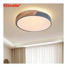 Светодиодная люстра, потолочный светильник для дома, гостиной, Современная круглая подвесная панель для кухни, спальни, декоративный корид...