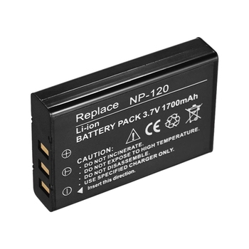 Np-120 Rechargeable Battery Power Backup Replacement 1700Mah For Ordro Andoer D395/Ac3/Ac5 Camcorders image