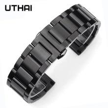 Uthai p82 20mm pulseira de relógio pulseira de metal pulseiras 22mm pulseira de relógio de alta qualidade pulseira de aço inoxidável