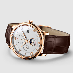 Image 4 - HAZEAL men automatic watches brand luxury self wind mechanical wristwatch watch dress mens montre homme with month week date