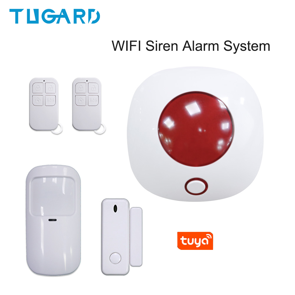 2020 New Tuya 433MHz Wireless WIFI Siren <font><b>Alarm</b></font> <font><b>System</b></font> Smart Remote Control Wireless <font><b>Home</b></font> Security&<font><b>Burglar</b></font> <font><b>Alarm</b></font> <font><b>System</b></font> Kit image