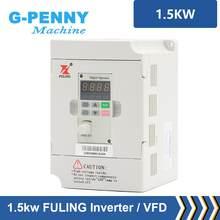 CNC mili motor hız kontrolü Fuling 220V 1.5kw VFD değişken frekanslı mekanizma invertör 1HP veya 3HP giriş 3HP çıkış