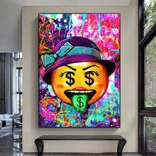 Граффити деньги доллар язык картина маслом на холсте мультфильм