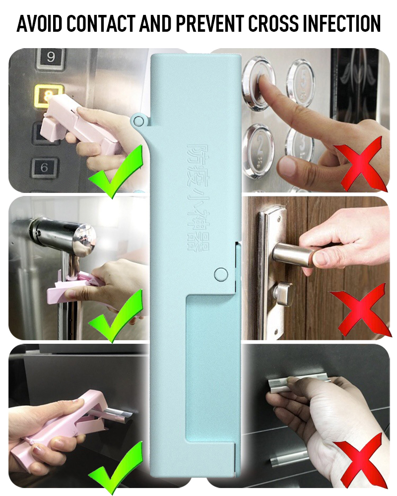 Press Elevator Hand Stick Avoid Touch Elevator Reaching No Touch Bacterial Defender Anti-epidemic Products Elevator Tools TSLM1