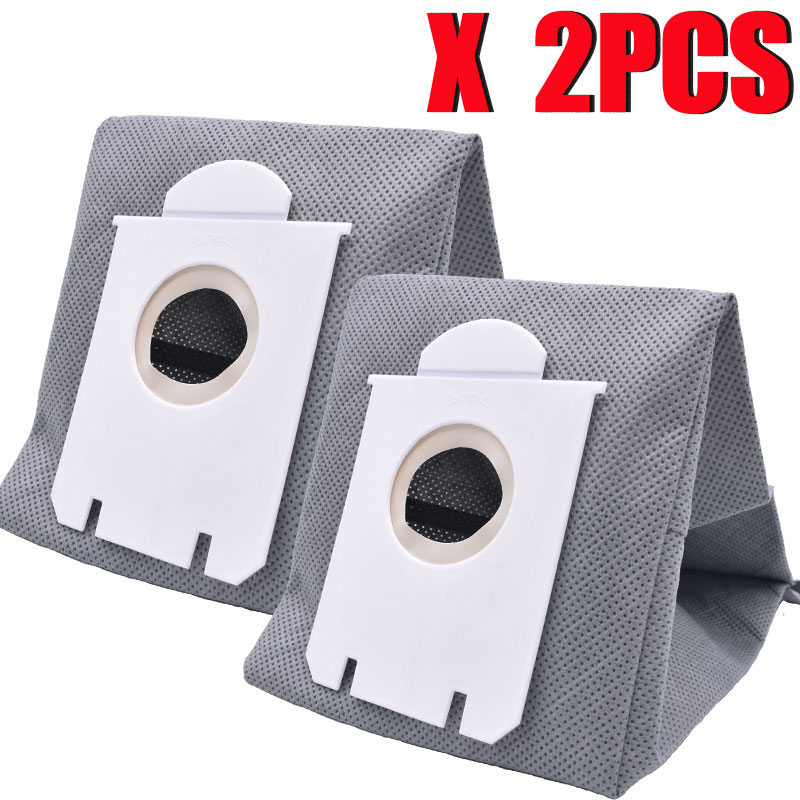 2Pcs Washable S-bag Dust Vacuum Cleaner Bags Dust Bag Replacement For Philips FC9071 FC8134 FC8613 FC8614 FC8220 FC8224 FC8200