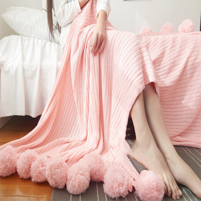Photography Decoration Elegant Throw Blanket for Bed Sofa Bedspread Long Shaggy Soft Warm Bedding Sheet Air Conditioning Blanket