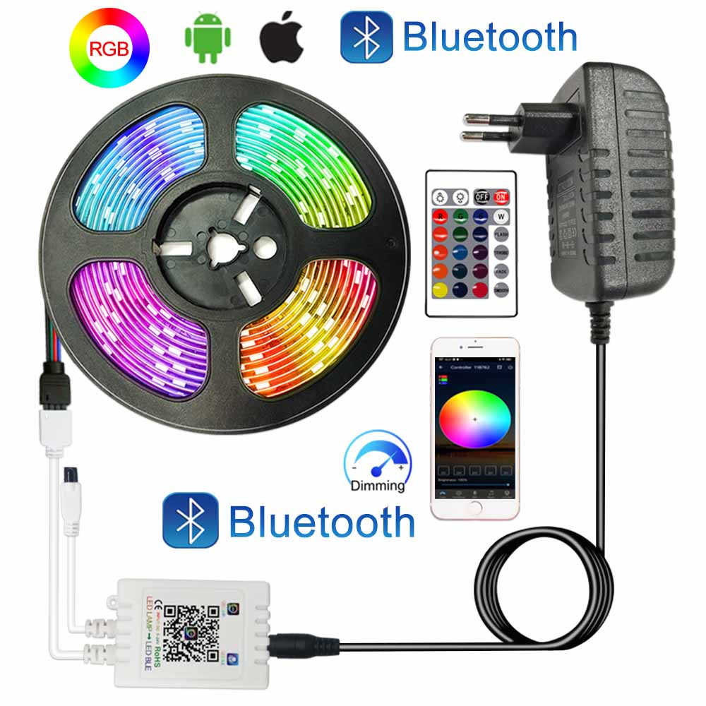 Цветная (RGB) Светодиодные ленты s 12V 20 м, поводок со светодиодными лампочками для комнаты 5 м 10 м 15 м, Wi Fi, Bluetooth, смарт лента Luces RGB ленты Светодиодные ленты света украшения|Светодиодные ленты|   | АлиЭкспресс
