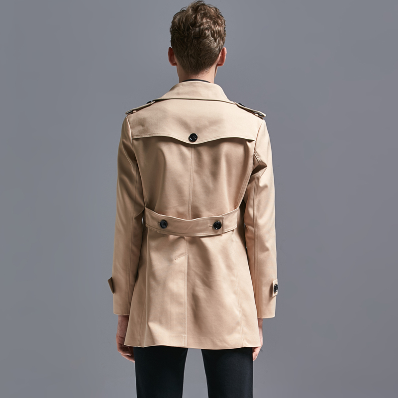 Men Plus Trench Size 6xl Turn-down Collar Double Breasted Mens Coats And Jackets Fashion Overcoat Male Coat Long