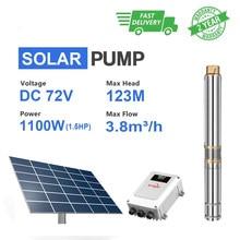 Solar Dompelpomp Water Pompen Waaier Pozo 72V 750W 1100W Dompelpompen Wellness Waterpomp Diepe Goed Met Panel pomp Pocillos