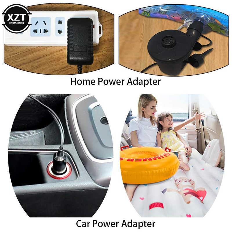 Mobil Karet Pompa Pompa Udara Listrik 12V Mobil Perahu Blower Listrik Pompa dengan 3 Nozel untuk Mobil Rumah Menggunakan
