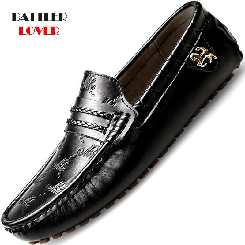 Size 37-49 Men Casual Shoes Fashion Man Shoes Genuine Leather Men Loafers Moccasins Slip On Men