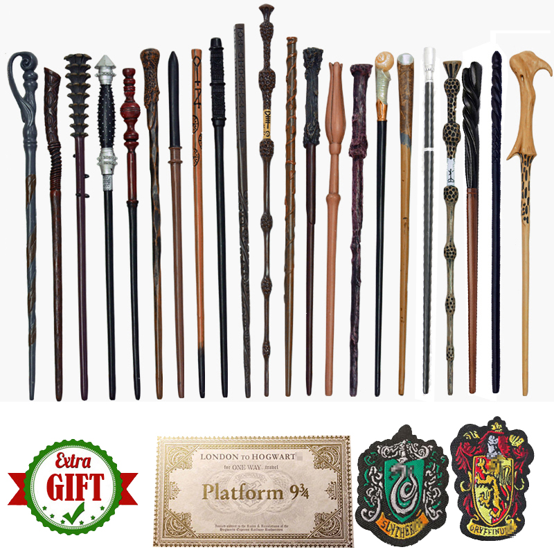 33 Kinds Magic Wands Ron Hermione Magical Colsplay Metal Iron Core Olds Dumbledore with Gifts Magic Adult Kid Toys No Box