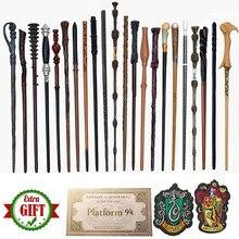 33 tipos varinhas mágicas ron hermione magia colsplay metal núcleo de ferro olds dumbledore com presentes magia adulto criança brinquedos nenhuma caixa